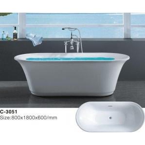 Отдельностоящая акриловая ванна Atlantis C-3051
