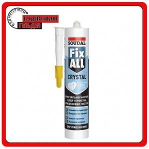 Soudal Fix All crystal Прозрачный клей-герметик 290мл