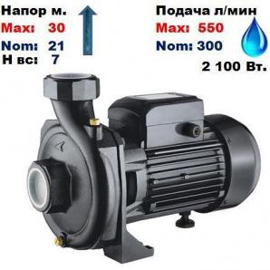 Насос відцентровий HPF-550 Sprut 30/21 м 300-550 л/хв 220 В 2100 Вт
