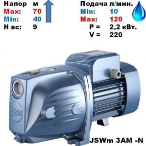 Насос відцентровий JSWm 3AM-N-1Ф PEDROLLO 40-70 м 10-120 л/хв 2,2 кВт