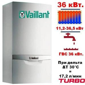 Котел газовий настінний Vaillant turboTEC plus VUW 362/5-5 36 кВт Турбо