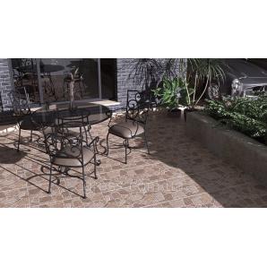Плитка для підлоги Cortile коричневий 400x400