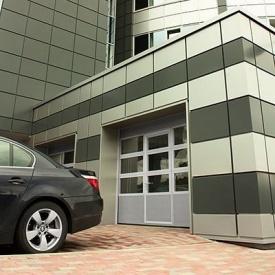 Автоматичні панорамні ворота ALUTECH AluTrend 3750×3000 мм