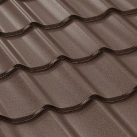 Металлочерепица Классик мат 0,5 мм 1120/1200 мм темно-коричневый (RAL 8019) (ArcelorMittal, Германия)