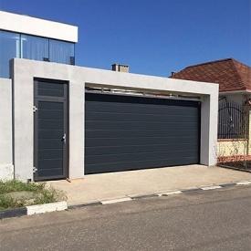 Автоматические гаражные секционные ворота под навес ALUTECH Prestige 3000×2375 мм