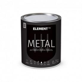 Полуглянцевая алкидная эмаль ELEMENT PRO METAL 0,7 кг желтая