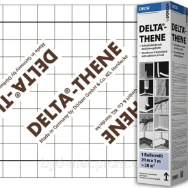 Самоклеюча гідроізоляційна мембрана DELTA - THENE ізоляція фундаменту 1х20 м