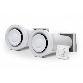 Комплект рекуператоров с 2 Ventoxx Champion с управлением Twist и внешними крышками воздуховод 0,75 м
