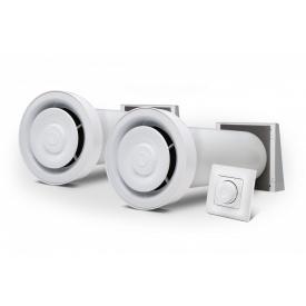 Комплект рекуператоров с 2 Ventoxx Champion с управлением Twist и внешними крышками воздуховод 0,5 м