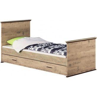 Кровать односпальная Палермо Мир мебели Дуб корабельный