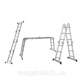 Лестница трансформер усиленная алюминиевая 4х4 Flora