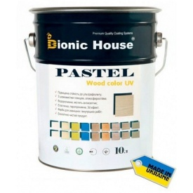 Акриловая лазурь+антисептик Bionic-House Pastel Wood Color 10 л пастельные тона