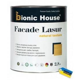 Фасадная лазурь Bionic-House на льняном масле FASADE LASUR 2,8 л