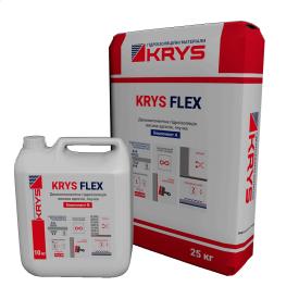 Еластична універсальна полімерцементна гідроізоляція KRYS Flex 35 кг