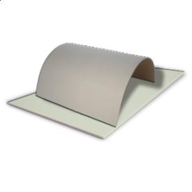 Гипсокартонная плита арочная 6,5x2500x1200 мм