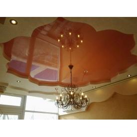 Натяжной потолок MultiБуд глянцевый коричневый