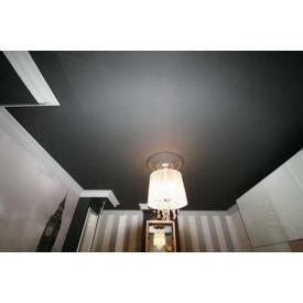 Натяжной потолок MultiБуд сатиновый черный