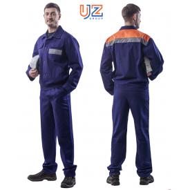 Костюм рабочий мужской темно-синий саржа 240 г/м2