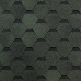 Битумная черепица Shinglas Оптима 2,4х317х1000 мм зеленый