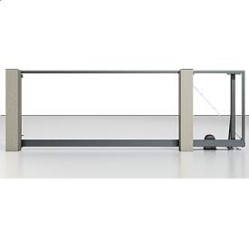 Автоматические откатные ворота Alutech Prestige с приводом Roteo без заполнения серый антрацит (RAL7016)