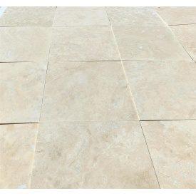 Плитка из травертина Cross Cut Filled&Honed Tiles Standard Light 40,6x40,6