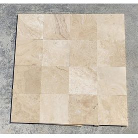Плитка из травертина Cross Cut Filled&Honed Tiles Commercial 40,6x40,6