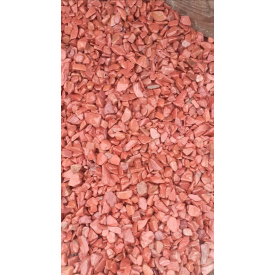 Галька мрамарная Красный мрамор 10-20 мм