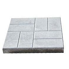 Плитка тротуарная Паркет 400х400 серый