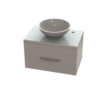 Комплект тумба Мадлен с умывальником Камелия литой камень мрамор 700х450х400 мм