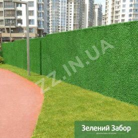 Металлический забор Хвоя Green ПВХ 40х40 мм 1,6 мм