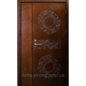 Дверь входная двупольная Дельта стальная с влагостойкой фанерой
