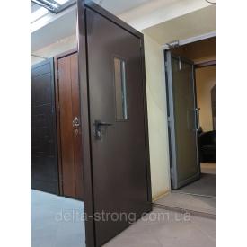 Двері протипожежні Дельта ЕІ-60 метал скло