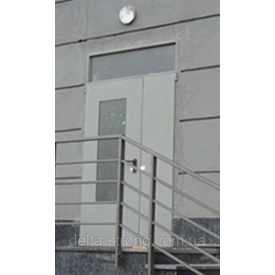 Двери противопожарные двустворчатые Дельта ЕІ-30 металл 1350х2400 мм