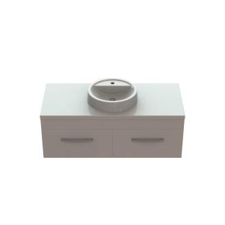 Комплект тумба Венера с умывальником Рондо литой камень мрамор 1200x550х400 мм