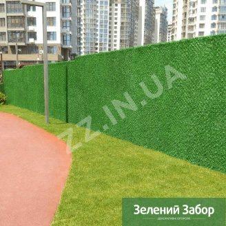 Металевий паркан Хвоя Green ПВХ 40х40 мм 1,6 мм