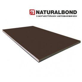 Алюмінієва композитна панель Naturalbond 1250x5600х4/0,4 мм Chocolate Brown (RAL 8017)