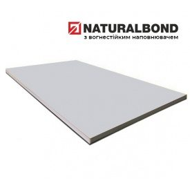 Алюмінієва композитна панель Naturalbond 1500x5800х4/0,4 мм Shiny Metallic Silver