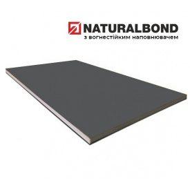 Алюминиевая композитная панель Naturalbond 1250х3200х4/0,4 мм Metallic Dark Grey