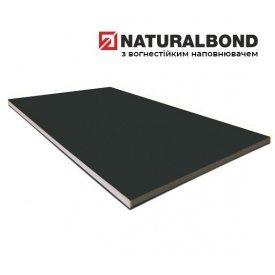 Алюмінієва композитна панель Naturalbond 1250x5600х4/0,4 мм Graphite Black