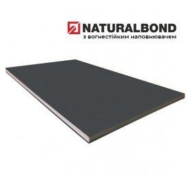Алюминиевая композитная панель Naturalbond 1500х5800х4/0,5 мм Graphite Grey (RAL 7024)