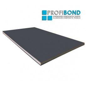 Алюминиевая композитная панель Profibond 1500х5800х4/0,4 мм сірий графіт (RAL 7024)