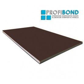 Алюминиевая композитная панель Profibond 1250х5600х4/0,4 мм коричневий (RAL 8017)