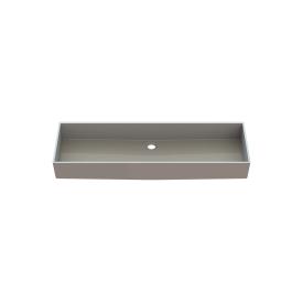 Столешница индивидуальная в ванную комнату цельнолитая с чашей Флорида 990х320х120 мм