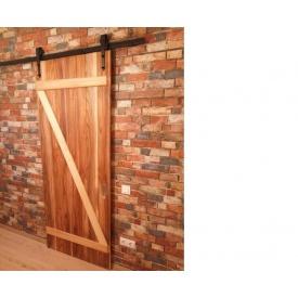 Комплект раздвижной системы в стиле LOFT для 1 двери до 100 кг 2 м