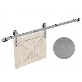 Комплект розсувної системи Mantion THOR в стилі LOFT 2 м сріблястий