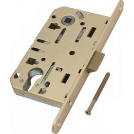 Замок механизм межкомнатный под ключ AGB Mediana Evolution матовая латунь