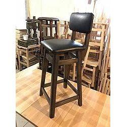 Барный стул со спинкой 60х30х30 см бук кожзам