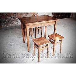 Обідній комплект стіл +4табурета 900x600мм