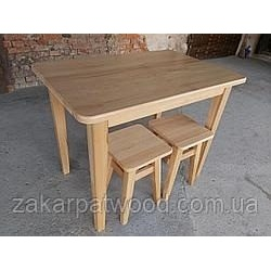 Обеденный комплект стол +4табурета 1000x650мм