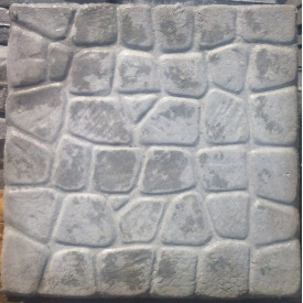 Вибро-литая плитка Морской камень 500x500мм